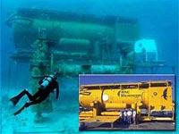 写真:海底約20mに設置された閉鎖施設「アクエリアス」