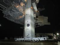 射点に到着したペイロードキャニスター(提供:NASA)