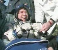 帰還したバラット宇宙飛行士(提供:NASA)