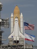 射点に到着したアトランティス号(提供:NASA)