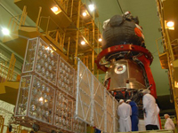 打上げ準備中のソユーズTMA-17宇宙船(©FSA)