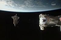 第1回船外活動の様子(飛行4日目)(提供:NASA)