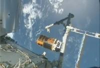 SSRMSから放出された「こうのとり」2号機