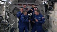 ISSの指揮権移譲セレモニーの様子(出典:JAXA/NASA)