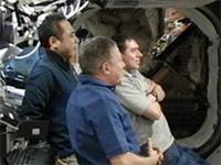 ISS船内で28Sの打上げを見守る古川宇宙飛行士ら第29次長期滞在クルー(出典:JAXA/NASA)