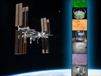 ISS/「きぼう」と「きぼう」で行われた実験イメージ(出典:JAXA)