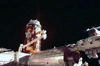 SSRMSによりISSへ取り付けられた「こうのとり」3号機(出典:JAXA/NASA)