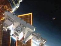 「こうのとり」3号機から取り出された曝露パレット(出典:JAXA/NASA)