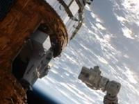 「こうのとり」3号機に戻された曝露パレット(出典:JAXA/NASA)