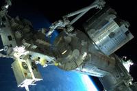 「きぼう」日本実験棟(船外活動中に星出宇宙飛行士により撮影)(出典:JAXA/NASA)