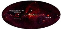 MAXIによる全天X線画像(出典:理研/JAXA/MAXIチーム)
