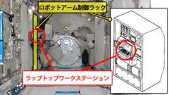「きぼう」ロボットアーム制御ラック